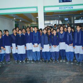 Govt Girsl School Students Visiting Hospital-RP Wellltar